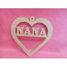4mm MDF Heart NANA